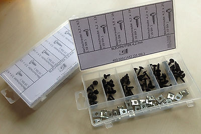 Sortiment 4,2 Blechmuttern + Blechschrauben 87 Teile
