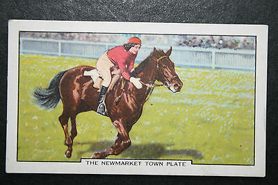 Newmarket Town Plate  Flat Race  Original 1930's Vintage Card  VGC
