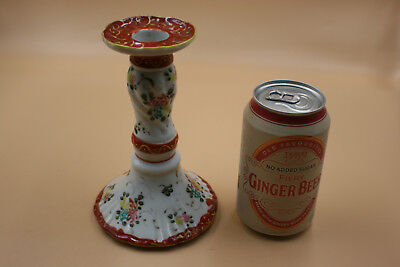 Japanese Chinese Porcelain Hand Painted Candle Holder - Marks