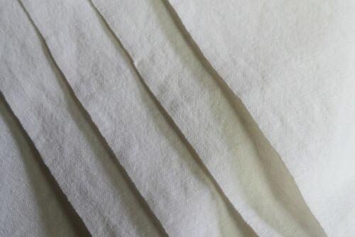 Antique French Linen Sheet Metis linen thick white sheet U34