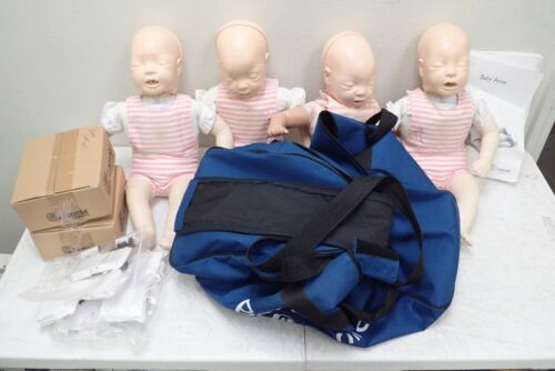 Laerdal Baby Anne Infant CPR Nursing Training Manikins with Bag & Extras