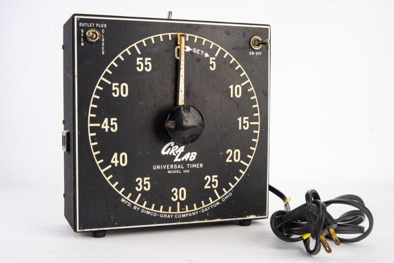 Gralab Model 168 Professional Darkroom Enlarger Timer 1 sec to 60 min TESTED V13