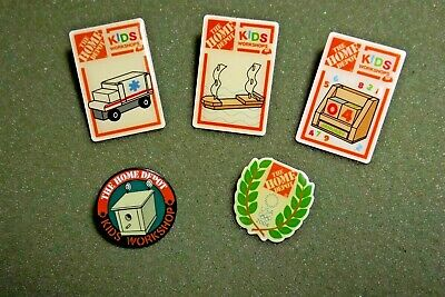 Home Depot Lapel Pin Lot (5) Olympic Workshop Ambulance Boat Bird House Date Day