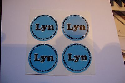 """12  Lyn CROWN GREEN STICKERS  1""""   LAWN BOWLS FLATGREEN  AND INDOOR BOWLS"""