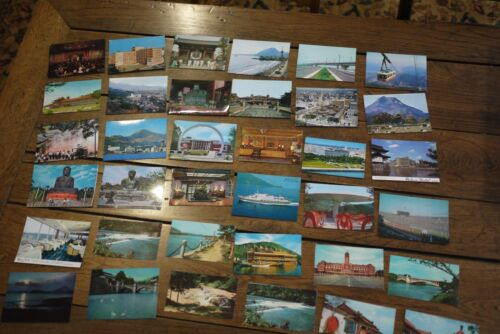 36  /  Vintage 1960s Japan, China  Art Collectible Postcards Souvenir / not used