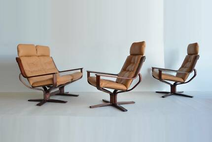 ONE JR Rufenacht SWIVEL arm chair. Falcon,Parker,Danish,Eames era