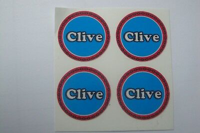 "Clive  16  CROWN GREEN STICKERS  1""  LAWN BOWLS FLATGREEN  AND INDOOR BOWLS"