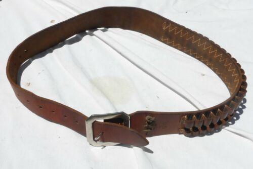 Leather Hunter 275 LG Rifle Caliber Cartridge Belt 30-06 300 Mag Mens 36-40