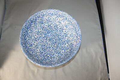 Roseville Workshops of Gerald E. Henn Blue Spongeware  2 QT. Bowl