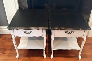2 Queen Annne style sidetables.