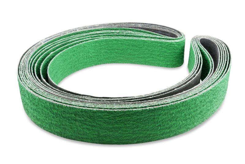 2 X 72 Inch 40 Grit Metal Grinding Zirconia Sanding Belts, 6 Pack