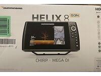Humminbird HELIX 8 CHIRP MEGA DI GPS G3N Combo w/ Transom Mount And Transducer