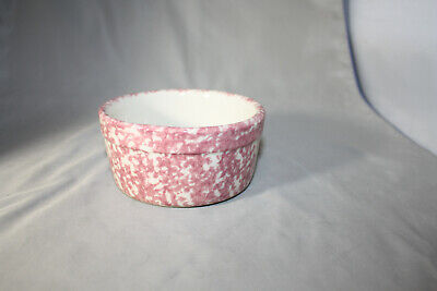 Roseville Workshops of Gerald E. Henn Spongeware Red Pint Casserole Dish
