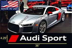 Audi Sport Windshield Banners Cars Stickers Decals TT Graphics