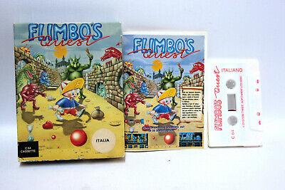 FLIMBO'S QUEST COMMODORE 64 DATASSETTE SYSTEM 3 ITALIANO GIOCO USATO FR1 62558 comprar usado  Enviando para Brazil