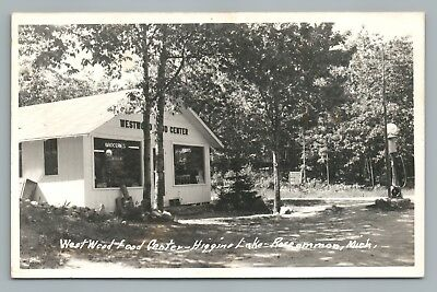 Westwood Food Center Higgins Lake Roscommon Rppc Vintage Michigan Grocery Photo