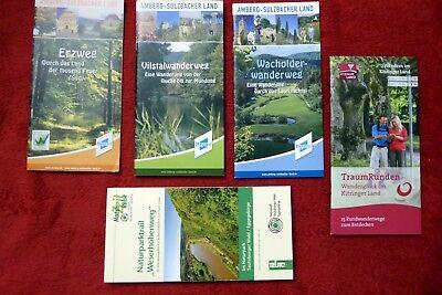 Prospekte - Wandern - Amberg - Kitzingen - Weserhöhenweg - Wanderwege