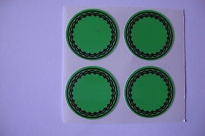 """12  GREEN   CROWN GREEN STICKERS  1""""   LAWN BOWLS FLATGREEN  AND INDOOR BOWLS"""