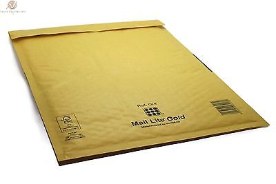 100 G4 G/4 Gold Brown 240 x 330 mm Padded Bubble Wrap Mail Postal Bag Envelope