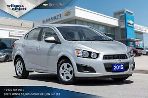 2015 Chevrolet Sonic LT Manual 1 OWNER, ACCIDENT FREE