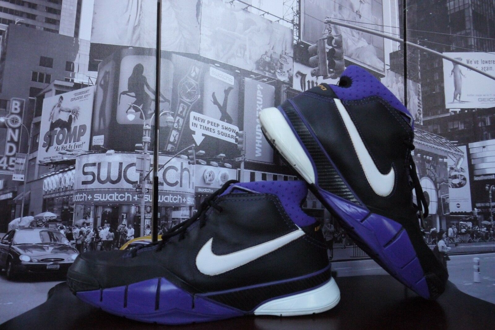 2006 OG Nike Zoom Air KOBE 1 Black out Leather US 12 / Eur 46  Rare NIB