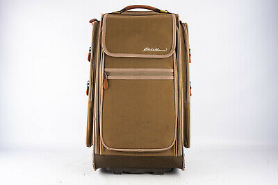 Eddie Bauer Medium Rolling Suitcase Garment Travel Luggage Olive 22x13x10 V12 - $70.52