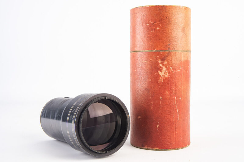 Projection Lens P Angenieux St Heand AX Type 65 95-100mm in Original Case V14