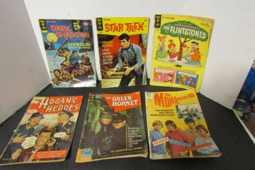 lot of 6 vintage TV comic books Dell Gold Key..5 silver 1 bronze old attic find
