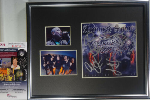 SIGNED ARMORED SAINT AUTOGRAPHED PUNCHING THE SKY CD MATTE DISPLAY JSA # LL38715