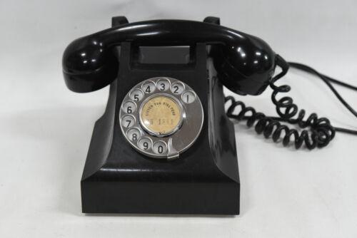 Vintage AWA 400 Series Black Bakelite Rotary Dial Telephone /Phone - 1950