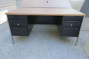 Office desk with file drawers