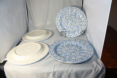 Roseville Workshops of Gerald E. Henn Blue Spongewear Dinner Plate