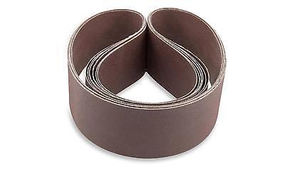 2 X 42 Inch 120 Grit Flexible Aluminum Oxide Multipurpose Sanding Belts 6 Pack