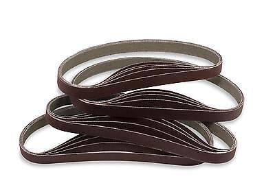 1/2 X 18 Inch 80 Grit Aluminum Oxide Air File Sanding Belts, 20 Pack