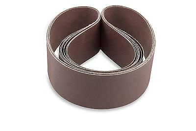 2 X 48 Inch 400 Grit Flexible Aluminum Oxide Multipurpose Sanding Belts 6 Pack