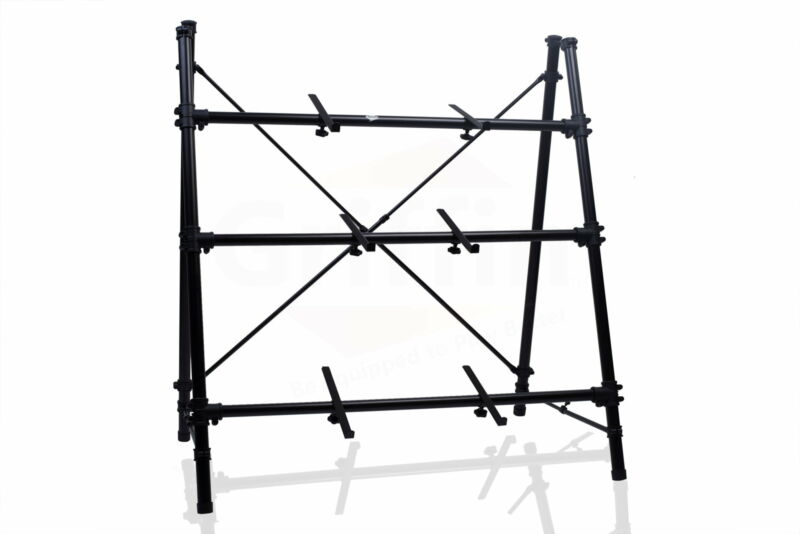 3 Tier Keyboard Stand –  A-Frame Holder Studio Piano Mount Mixer Turntable DJ PA