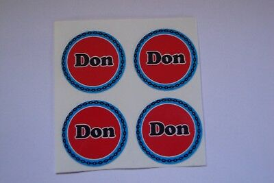 """12 Don Bowls stickers  CROWN GREEN BOWLS STICKERS  1""""  LAWN BOWLS INDOOR BOWLS"""