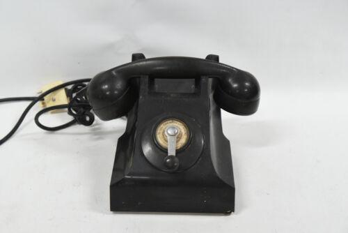 Vintage Bakelite Crank Wind Telephone 1950