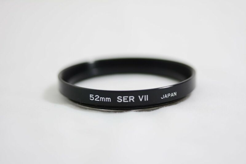 52MM TO SERIES VII  STEP-UP METAL LENS FILTER RING (MINT)