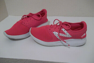 YOUTH NEW BALANCE FUEL CORE COAST ATHLETIC SHOES SNEAKER HOT PINK/WHITE GIRLS 3Y