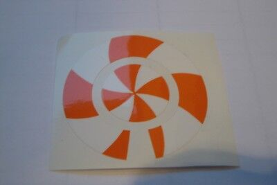 16 ORANGE AND WHITE  CROWN GREEN BOWLS STICKERS LAWN BOWLS  8 FINGER 8 THUMB