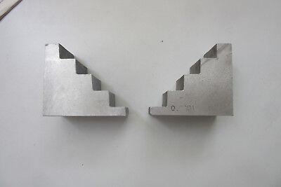 Spannklötzer ( 2 Stück )  ,Spanntreppen , Aluminium Guß , Maße 100 x 89 x 56 mm