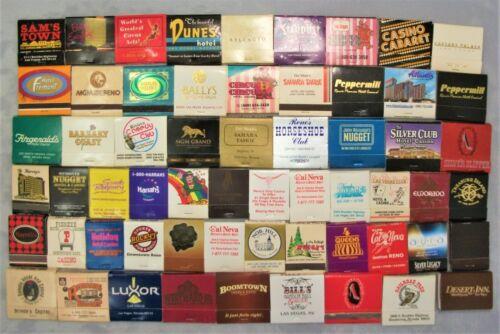 Vintage Lot of 60 Las Vegas Reno Hotel Casino matchbooks Dunes, Nob Hill,+++  #2