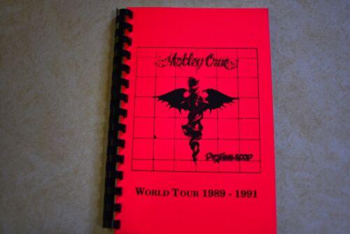 Motley Crue Rare Dr. Feelgood 1989-1991 World Tour Itinerary