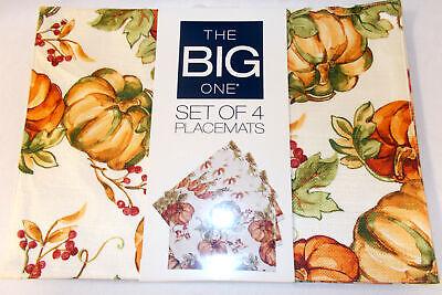 Kohls Celebrate Fall Placemats Pumpkin Pumpkins Set 4 NWT