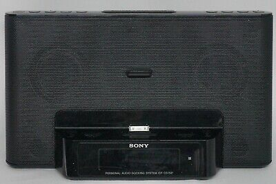 Sony Speaker Dock System ICF-CS15iP Dual Alarm Clock Radio Aux In iPod Portable*