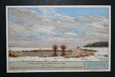 Stratus Cloud Formation     Original 1930's Vintage Illustrated Card  VGC