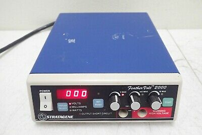 Stratagene 400610 Model Feather Volt 2000 Bench Top Power Supply