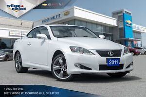 2011 Lexus IS 350C | LEATHER/ HEATED/ COOLED SEATS | REMOTE S...