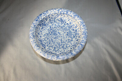 Roseville Workshops of Gerald E. Henn  , Cereal Bowls, Blue  Spongeware, NEW